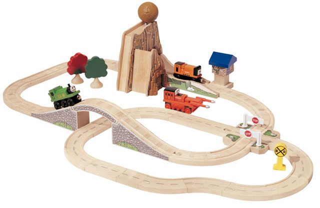 Boulder mountain set by learning curve lc99550 great for 100 piece mountain train set and wooden activity table
