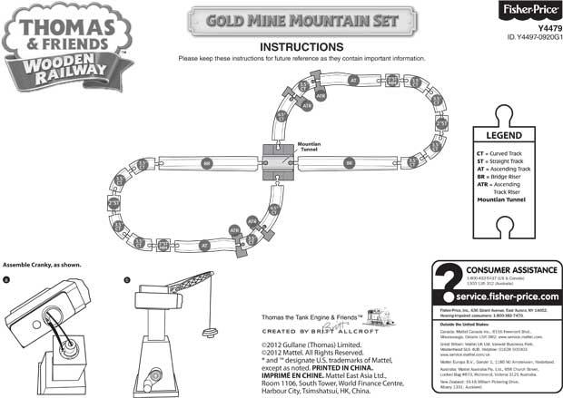 Thomas Train Gold Mine Mountain Set Train Set Track Layout