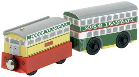 Flora and Tram ( LC98009 ) - Thomas & Friends Wooden Railway