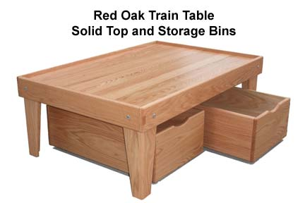 Train Table Red Oak Furniture Grade Solid Red Oak Hardwood - Red oak table top