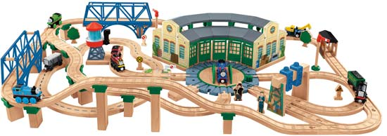 Tidmouth Shed Deluxe Train Set in Thomas Box by Fisher Price Toys ...